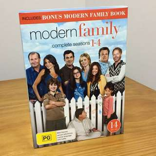 Modern family seasons 1-4 in box