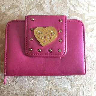 👛 Pink Wallet/Purse wIth Love Heart & Stud Detail