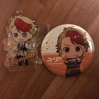 Yuri on Ice Minami Kenjirou Charm and Badge