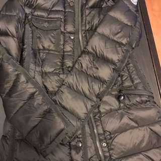 Moncler knee length down coat