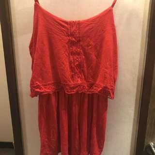 紅色連身褲