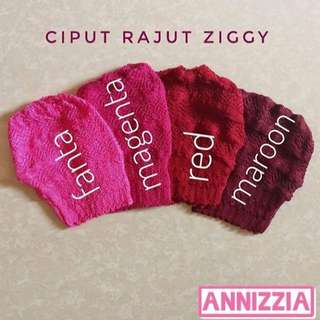 17rb Ciput Rajut Anti Pusing Model Zigzag