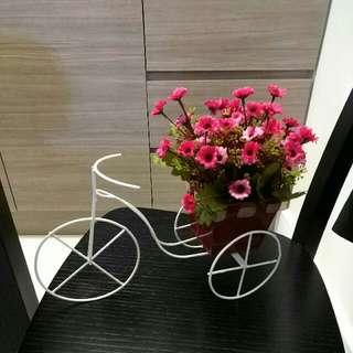 單車盆栽(假花)