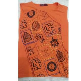 Blouse Orange U Can See