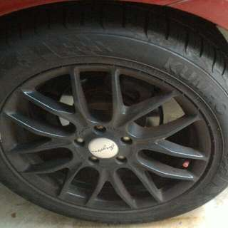 17 inch sport rims and tires for swap (5x114.3)