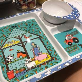 Brand new: plate and bowl