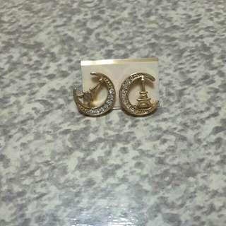 鐵塔水鑽耳環