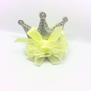 黃色蕾絲小皇冠 6x6x6cm