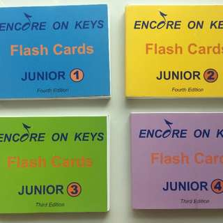 Encore On Keys flash cards Junior 1 - 4