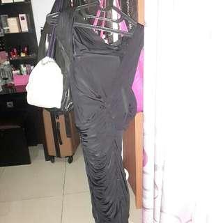 Ciel Black Midi Dress