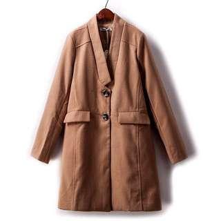 Brown blazer outerwear
