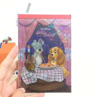 迪士尼 小姐與流氓 筆記本