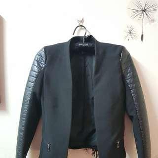 H&M Blazer (half leather)