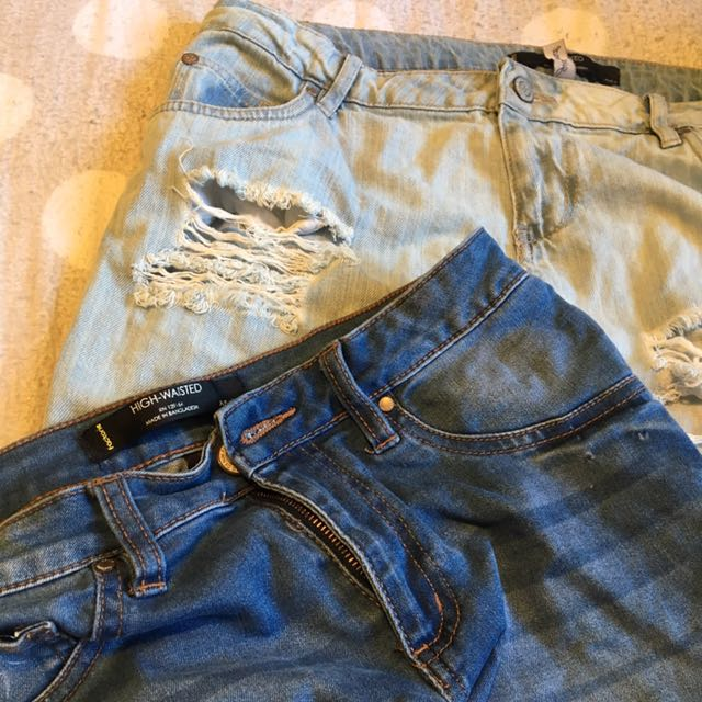 2 PAIRS size 12 jeans