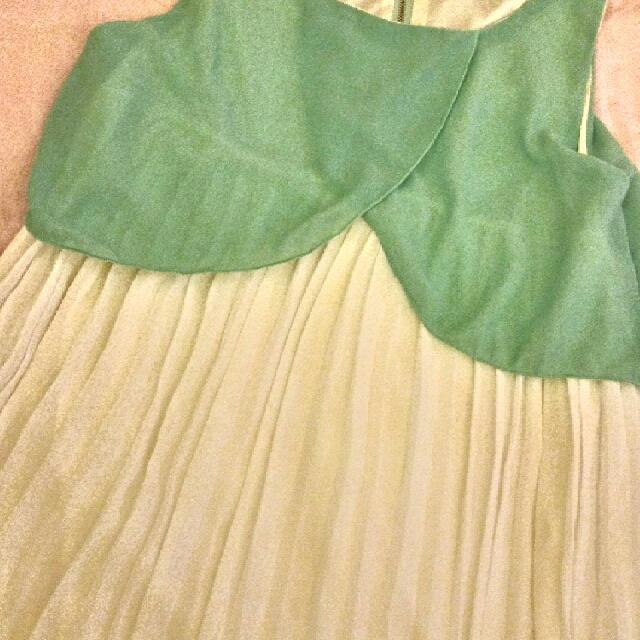 湖水綠雪紡小洋裝
