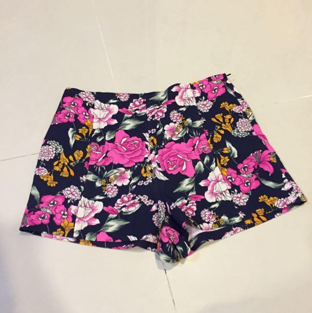 韓國花朵短褲