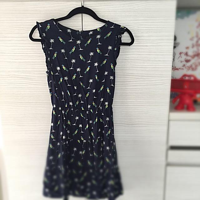 碎花短裙+洋裝