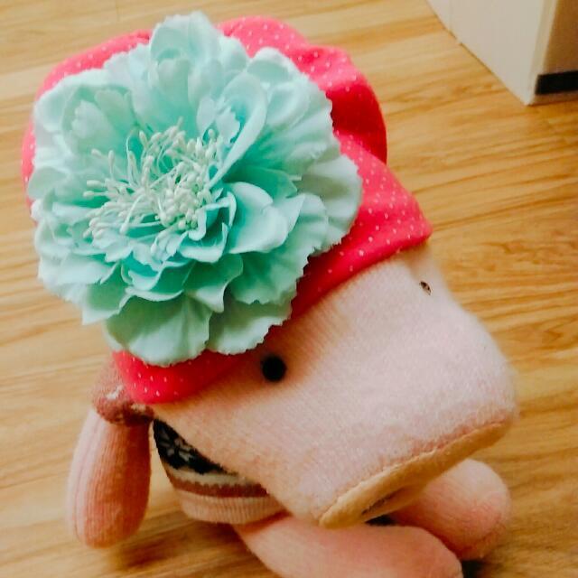 寶寶立體花朵保暖帽