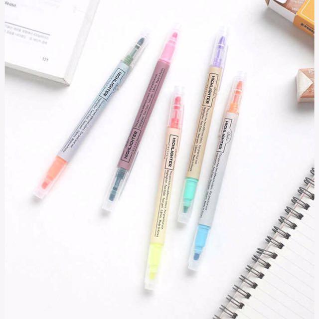 韓國雙頭螢光筆(十色)