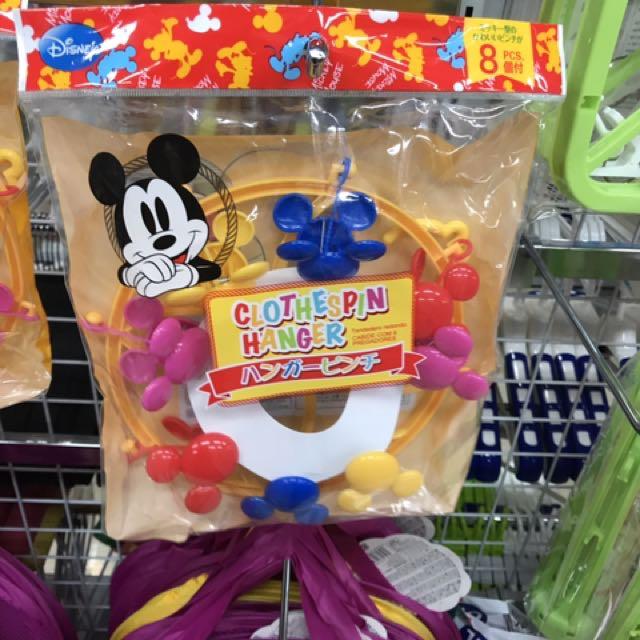 日本代購 米奇曬衣夾