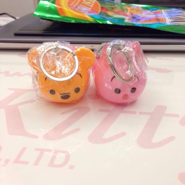 全新✨ 超可愛 小熊維尼 Winnie 小豬 鑰匙圈 吊飾 可愛玩具 塑膠裝飾品
