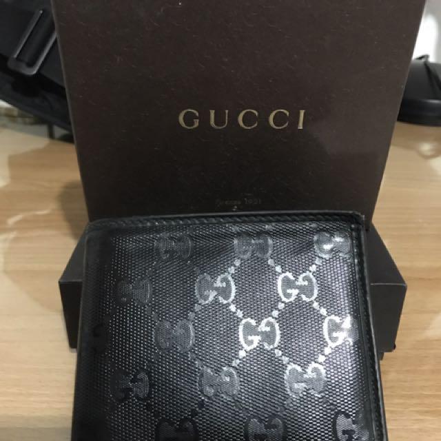 二手 Gucci 6卡黑色皮夾 便宜賣 不正可退