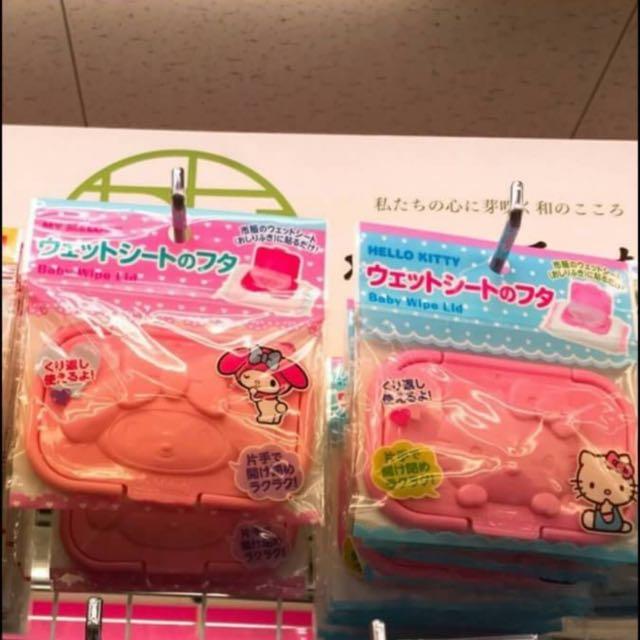 日本代購 kitty濕紙巾蓋