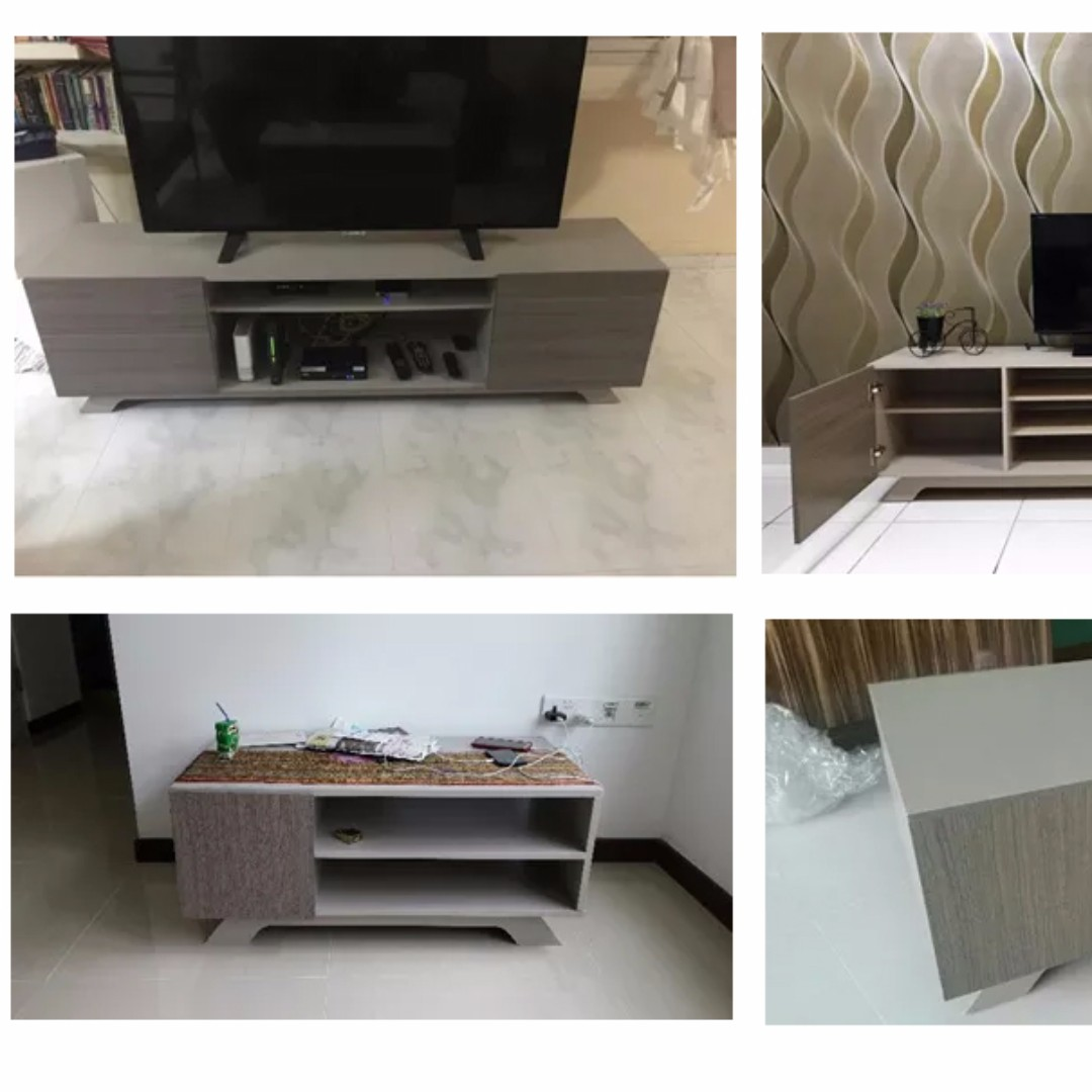 Ashly Simple Modern Coffee Table Tv Console Home Furniture  # Table Tv Simple