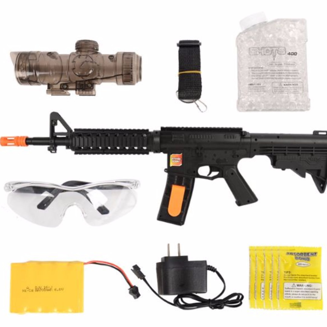 Automatic Blaster Gel Gun M16, Toys & Games, Toys on Carousell