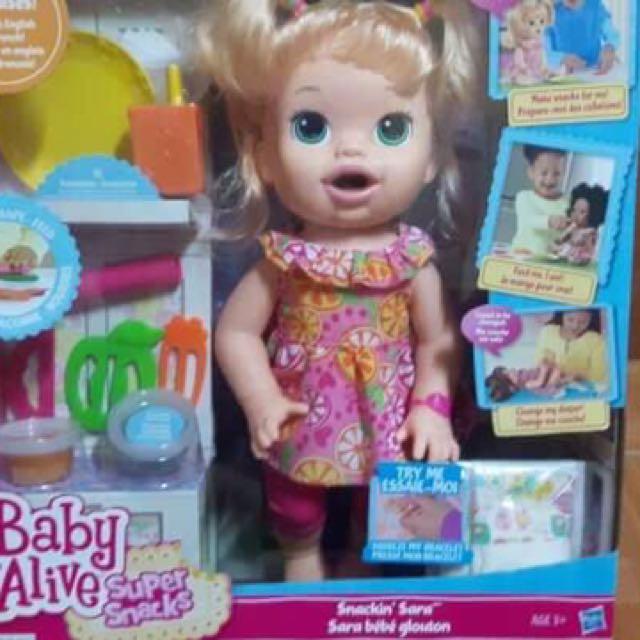 34e7b019f Baby Alive Super Snacks Snackin Sara (Blonde)