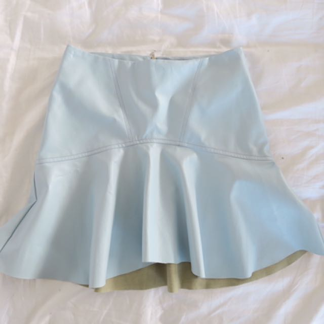 BARDOT Leather Look Skirt Size XS 6