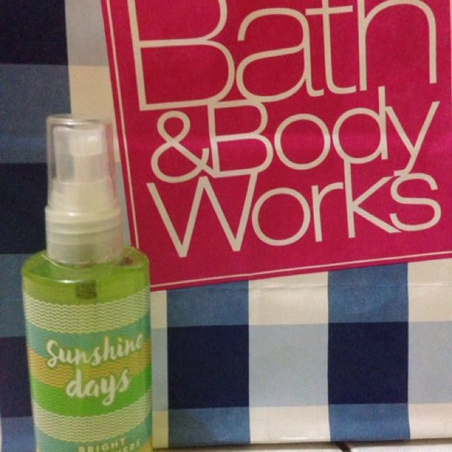 Bath And Body Works Travel Size Sunshine Days