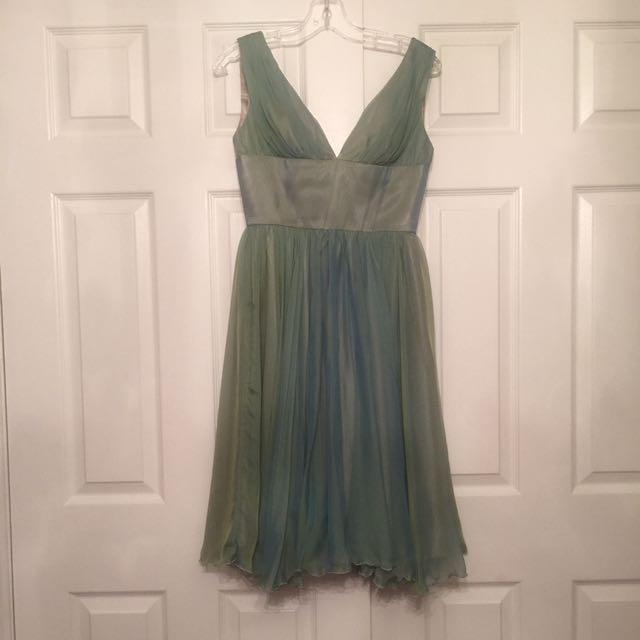 Beautiful green dress, handmade size 4-6