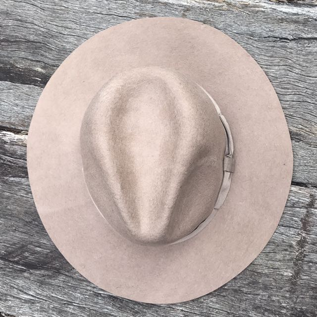 Beige Felt Hat- Never Worn