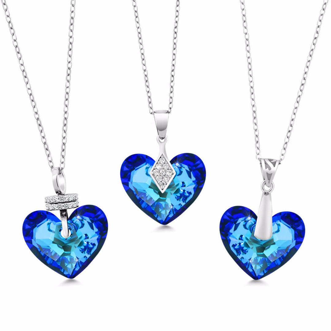 Bermuda-Blue-Truly-In-Love-925-Silver-Pendant-Crafted-with-Swarovski-Crystals
