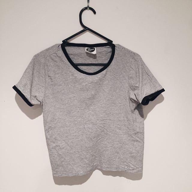 Black And White Stripe Tee shirt Size 12