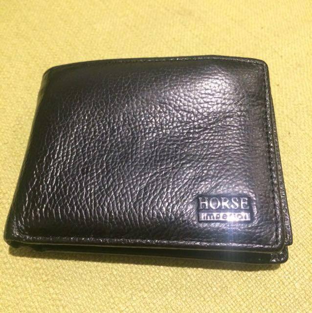 Black leather mans Wallet