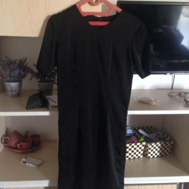 Black sach dress