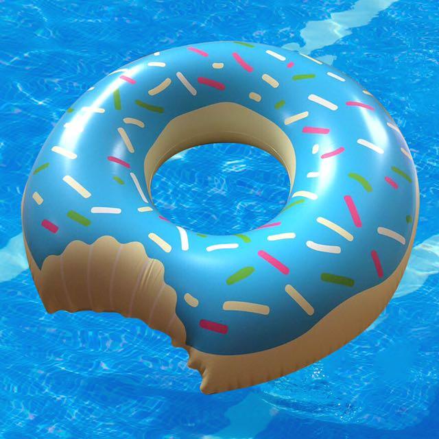 Blue Donut Floatie