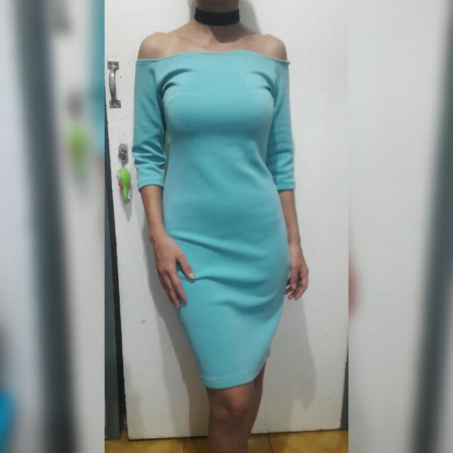 Blue Sabrina Dress