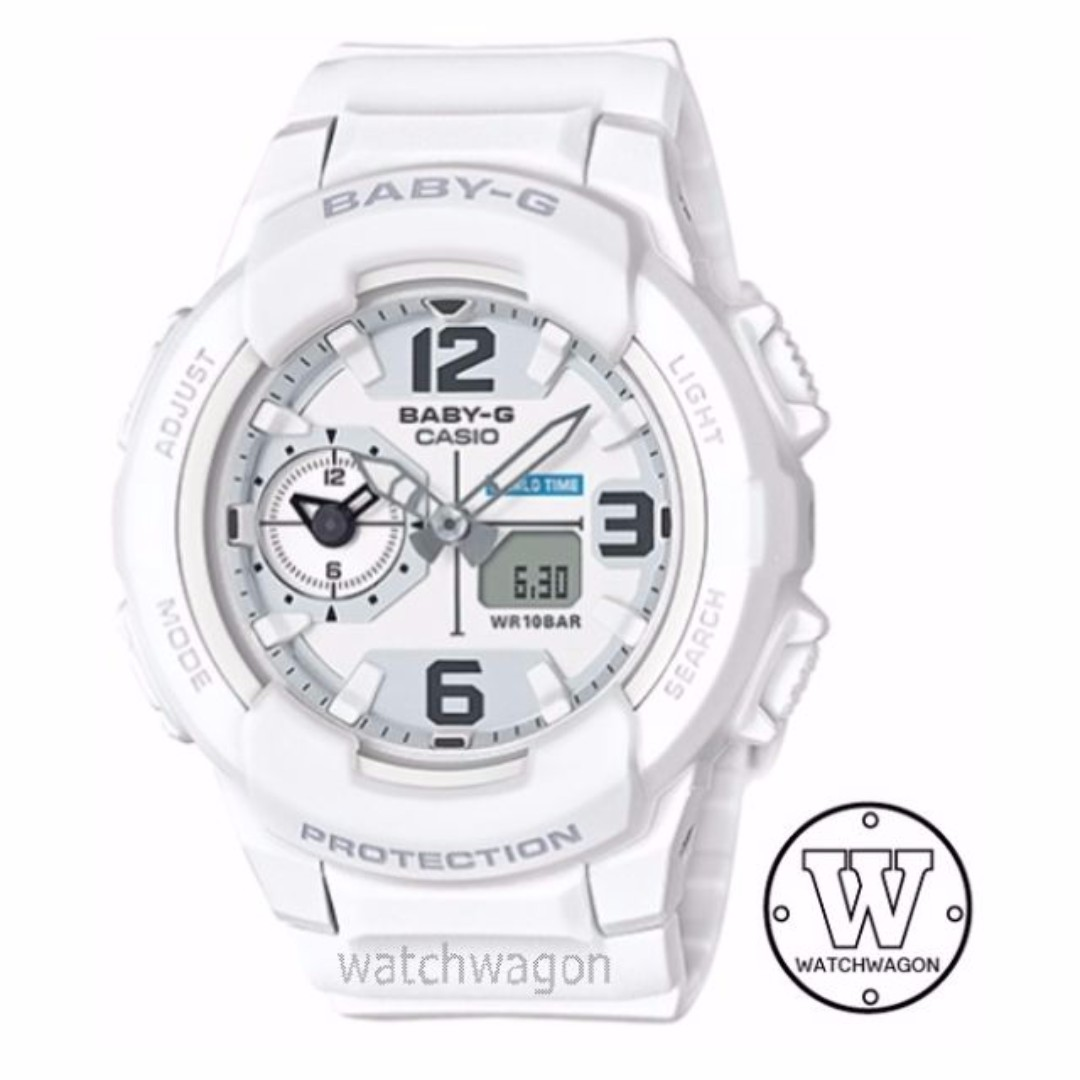 Brand New 100 Authentic Rugged White Casio Baby G Bga 230 7b Original Womens Fashion Watches On Carousell