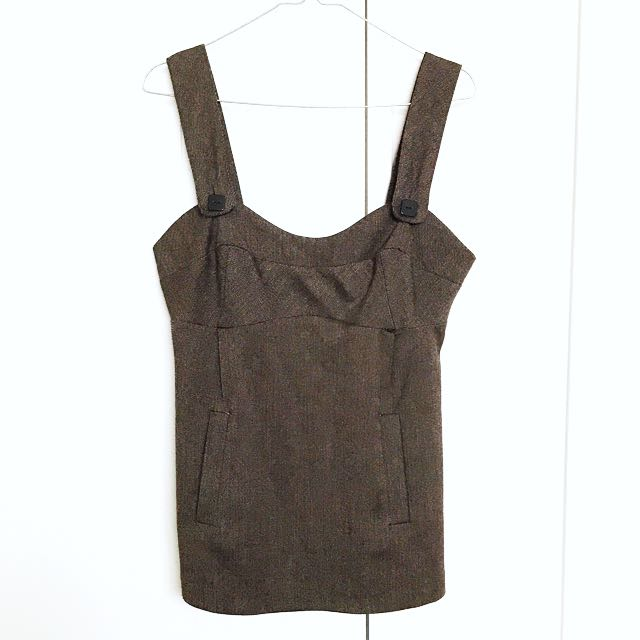 Brown pinafore (new)