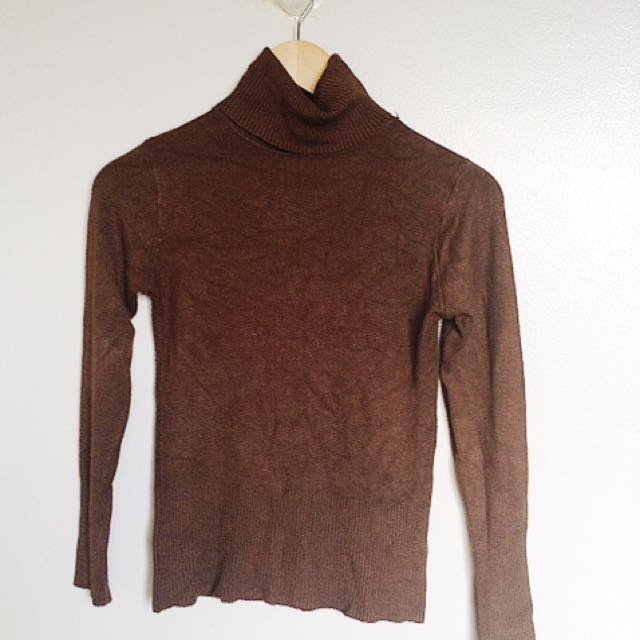 Brown Turtleneck
