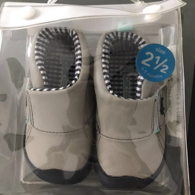 Carters Every Step Stage 1 Crawling Shoes Size 2.5 6-9 Months New