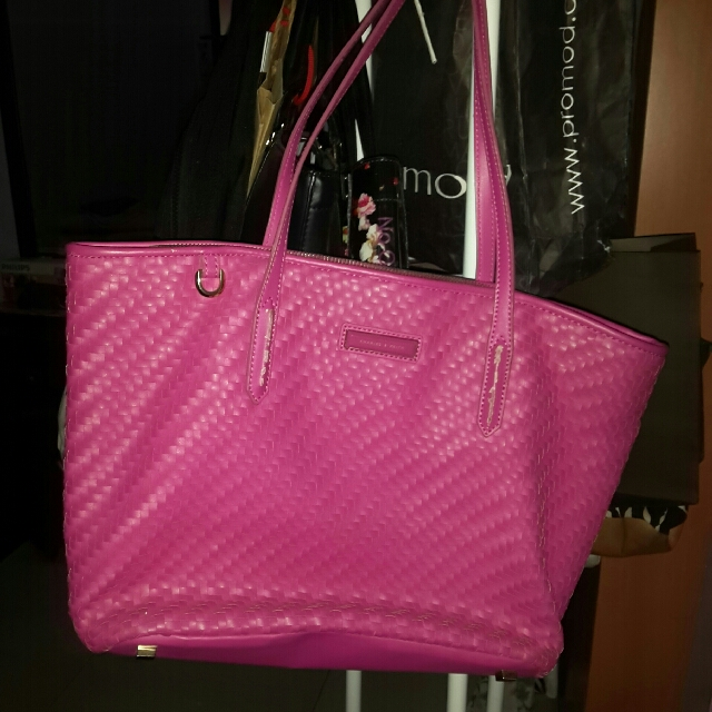 Charles And Keith Fuchsia Bag