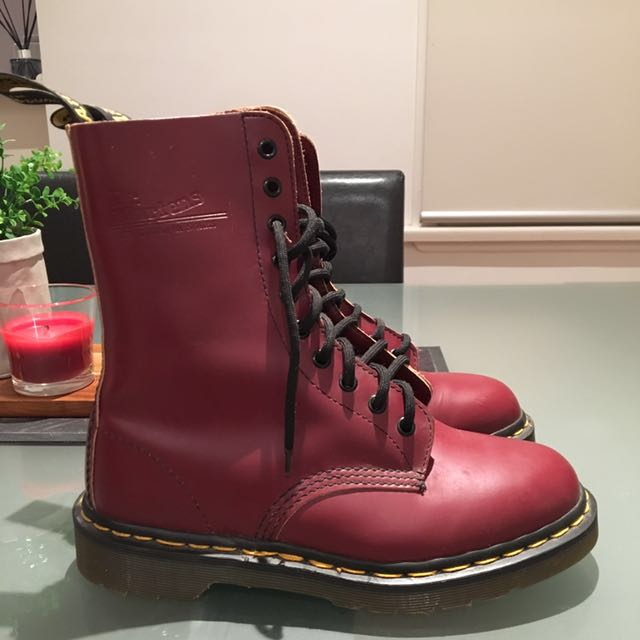 Cherry red Doc Martens size 8
