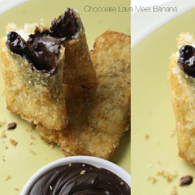 Choco Lava Meet Banana Sandwich Goreng