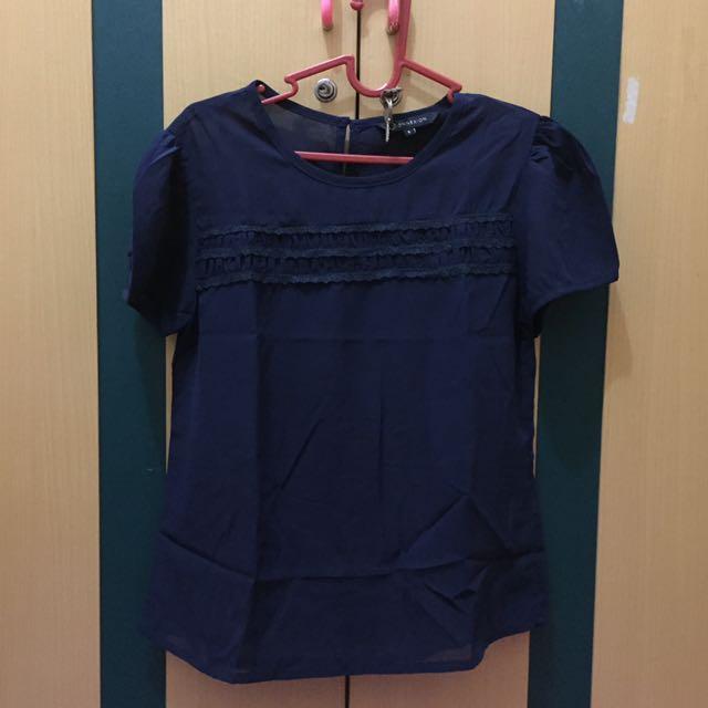 Conexion casual shirt/ warna navy