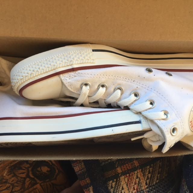 Converse White High Top Shoes