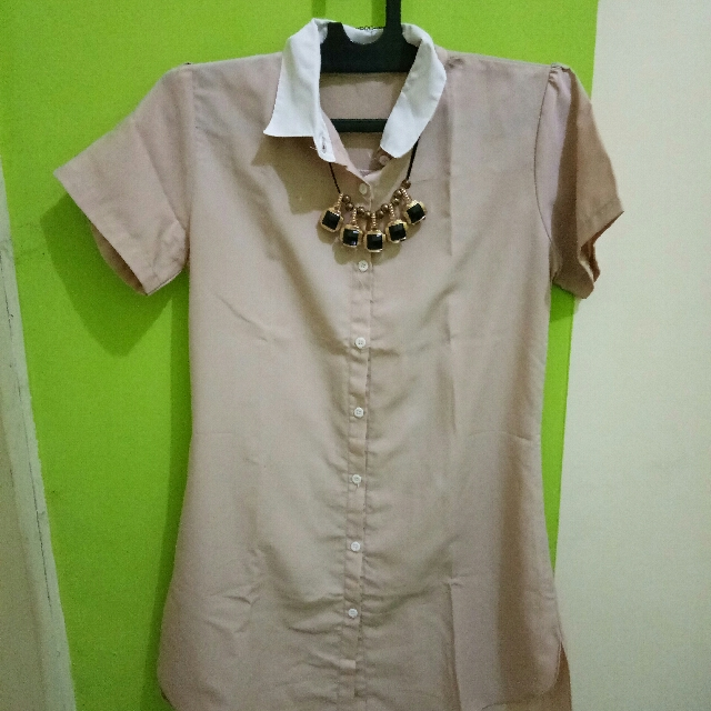 coral dress brown